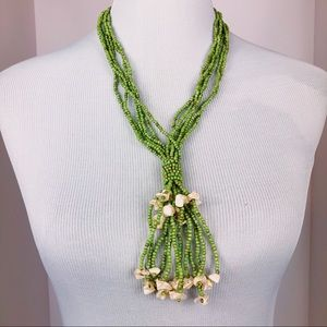 Jewelry - Green Glass Beaded Necklace